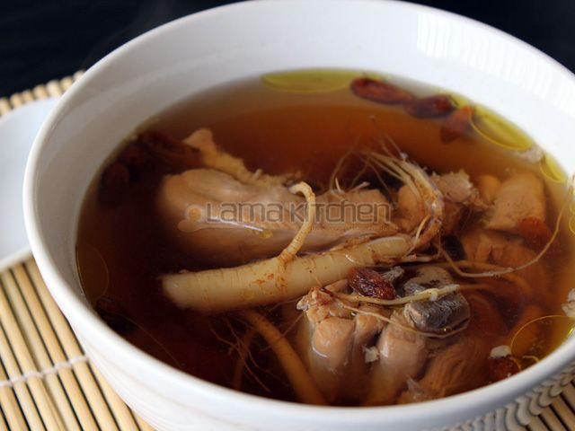 American Ginseng Chicken Soup (花旗參雞湯) | Lama Kitchen - Drive Your Passion for Food | A Food & Cooking Blog
