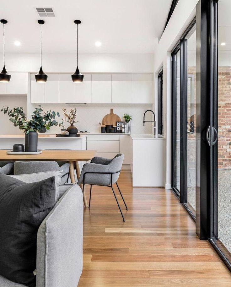 Interior Amp Scandinavian Homes On Instagram 8220 How Stunning Is This Open Plan Living Space By Artdepartm Modern Kitchen Design House Interior Interior