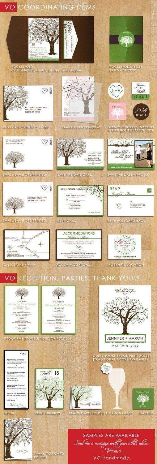 SAMPLE of Grandfather Oak Tree Wedding Invitations by vohandmade, $3.00