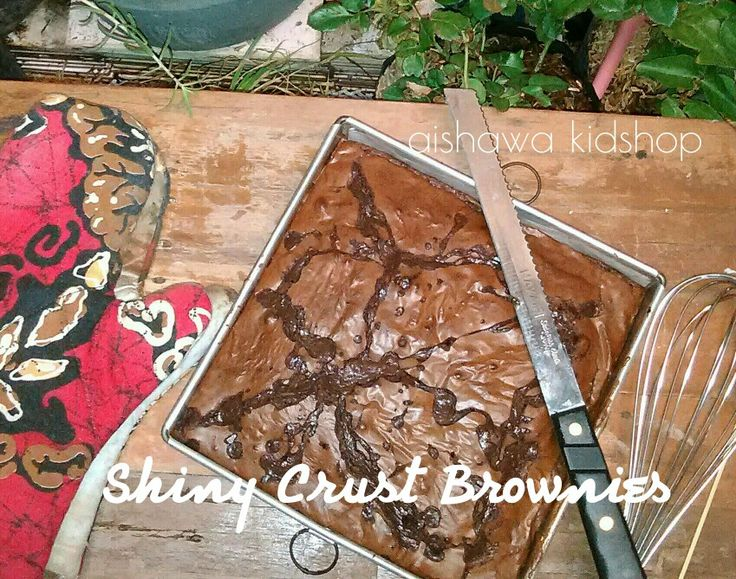 triple choc river n shiny crust brownies