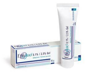 Remédio para Tratamento de Acne É Um Medicamento usado para tratamento da acne severa, ele age melhorando as inflamações de cravos e espinhas, seus benefícios já podem ser notados na primeira semana de uso, ele também é usado para clareamento da pele. Composição Cada grama do gel contém: Peróxido de Benzoíla 25 mg Adapaleno 1 mg