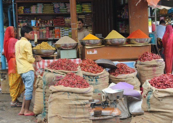 Spices at a market, Rajasthan, India #india #Kamalan #travel #culture #photo #Rajasthan #food