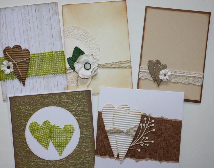 Few cards for rustic wedding