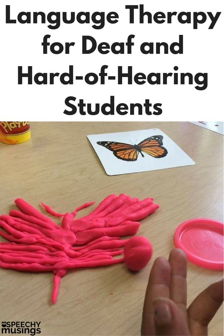 Information on language therapy for deaf and hard of hearing students including speech therapy activities that are free or very inexpensive. From Speechy Musings.