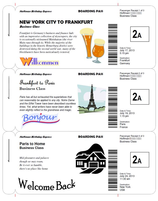 how to make fake boarding passes as wedding invitations  party games  or as a way of giving