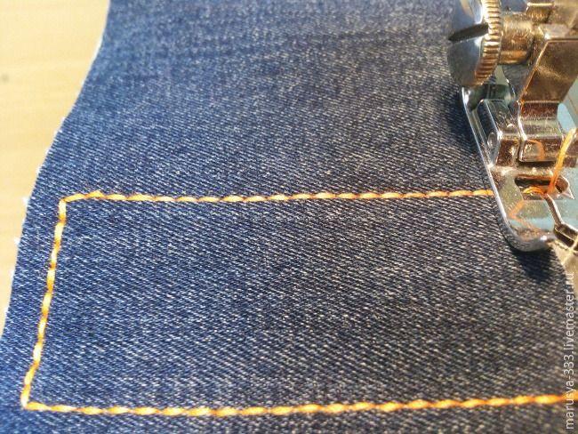 Как прострочить отделочную строчку в три нитки из одной катушки - Ярмарка Мастеров - ручная работа, handmade