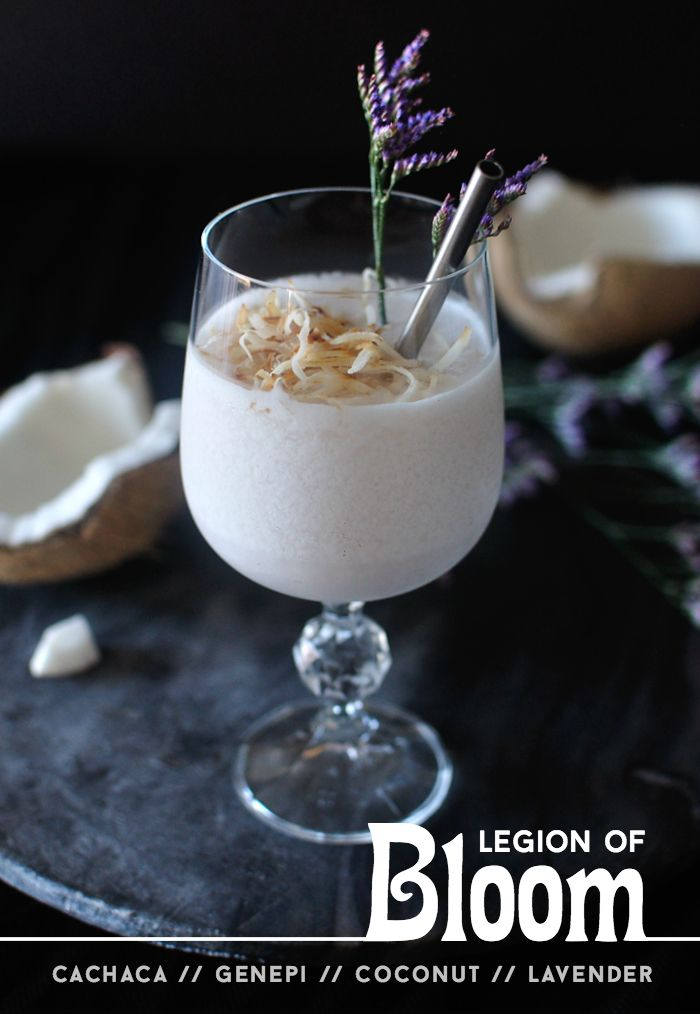 Legion of Bloom: a coconut, lavender, and cachaca cocktail - 10th Kitchen