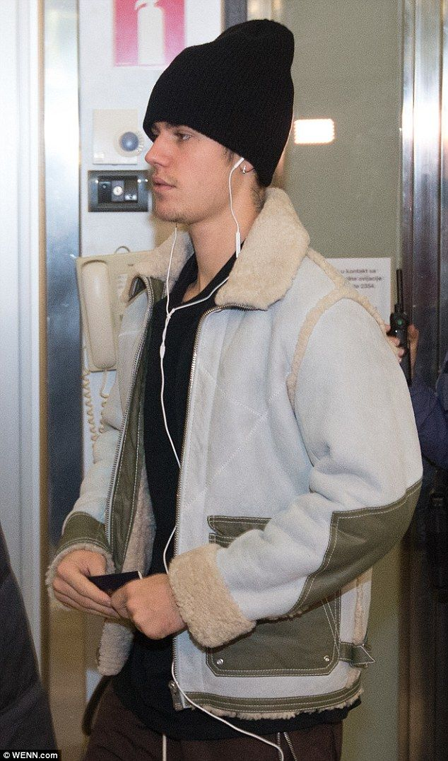 Smooth landing: Justin Bieber, 22, touched down at Zagreb Airport, Croatia on Wednesday ah...
