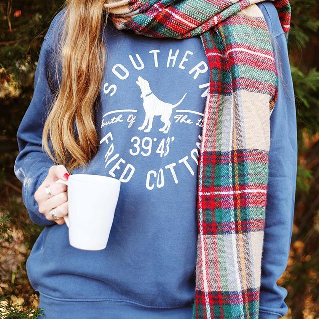 Comfy and cozy, the Hound Circle Crew Neck Fleece from Southern Fried Cotton is a must have for the winter months. Wear it to Netflix and chill or to a bonfire on a Tuesday night. It doesn't matter where you wear it, you'll stay warm and comfy all day and night. #Preppy #Gifts #Holidays