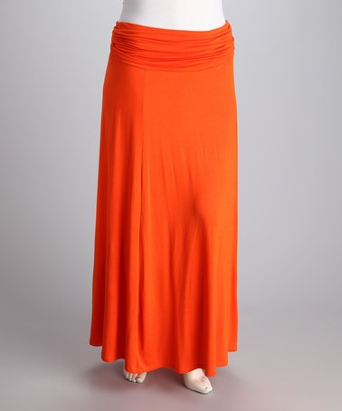 Take a look at this CANARI Orange Max Plus-Size Skirt by Pure Citrus: Plus-Size Apparel on @zulily today!