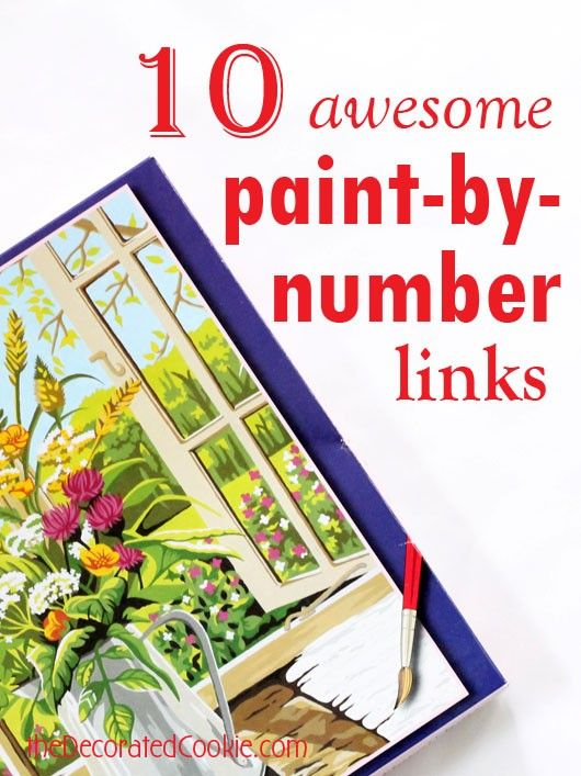 paint-by-number links roundup