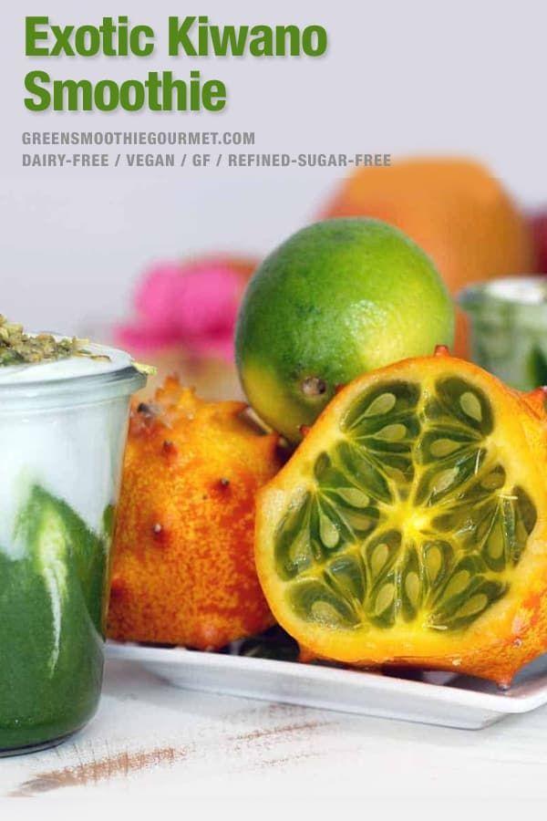 Sunny Kiwano Kale Smoothie Recipe Hidden Vegetable Recipes