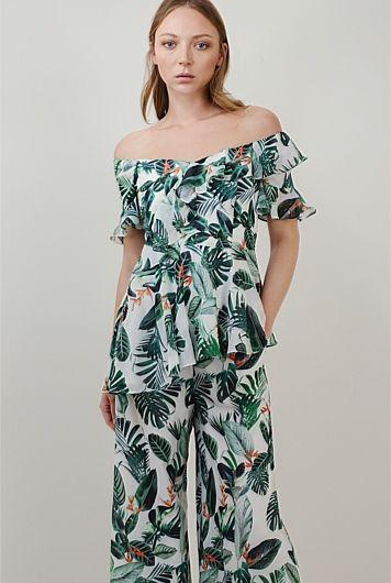 Sheer Print Ruffle Top, Country Road $199.0  http://www.shopyou.com.au/ #womensfashion #shopyoustyle