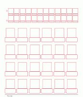 Blank Guess Who Game Sheet Templates - can make our own :-)