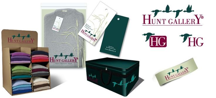 Fibretex - Marchio Hunt Gallery e packaging prodotti. Realizzazione: Agenzia Verde