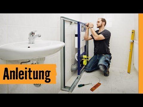Wand-WC einbauen   HORNBACH Meisterschmiede - YouTube