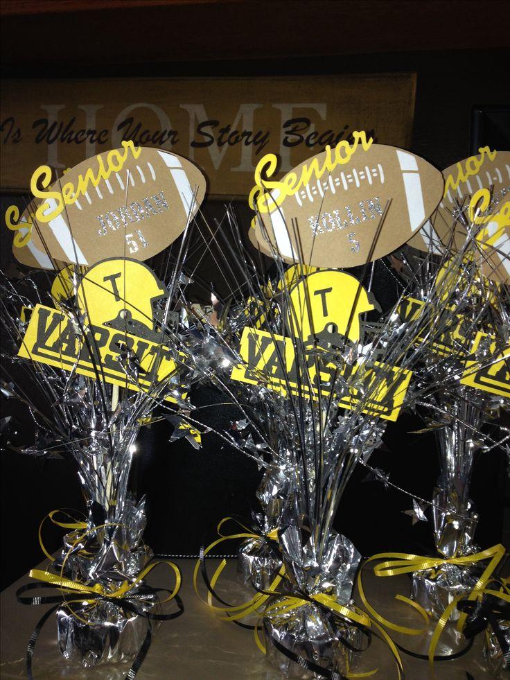 Football banquet senior keepsakes/table decor