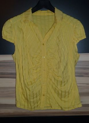 Kaufe meinen Artikel bei #Kleiderkreisel http://www.kleiderkreisel.de/damenmode/blusen/89968700-damenbluse-bugelfrei-gelb-kurzarm-gr-44-mister-lady