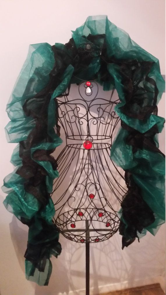 Sea Witch: Black and Green Organza Boa by RoseVonSweet on Etsy
