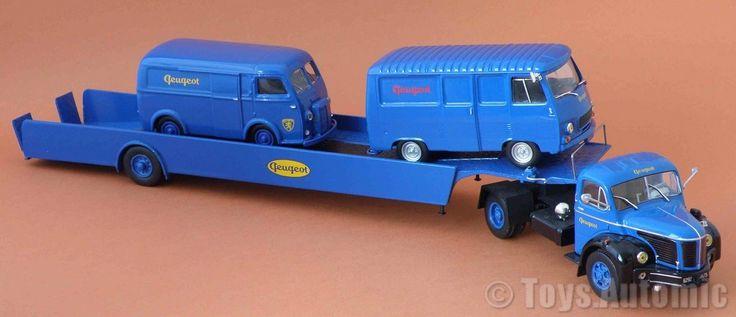 Camion Berliet Glr Plateau Remorque Porte Auto