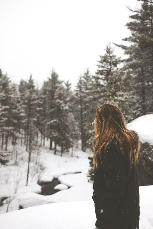 snow, girl, blonde, trees, tree, winter |