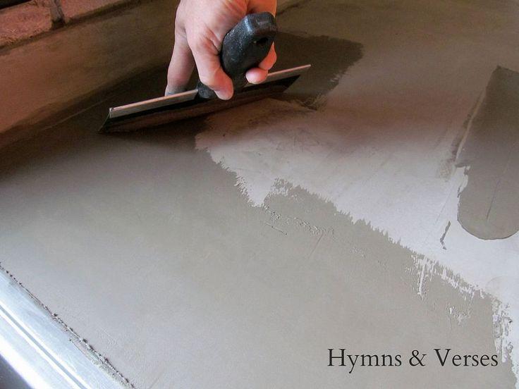 Hometalk :: DIY Concrete Countertops Over Existing Formica