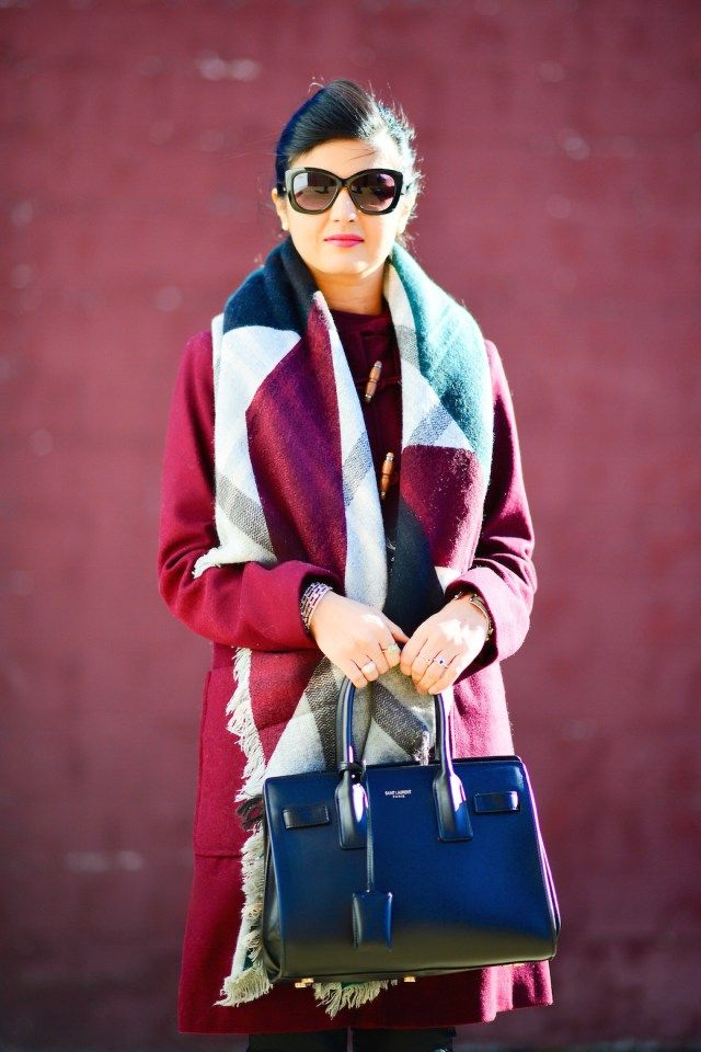1000  images about Berry-Duffle-Coat-&-Square-Scarf on Pinterest