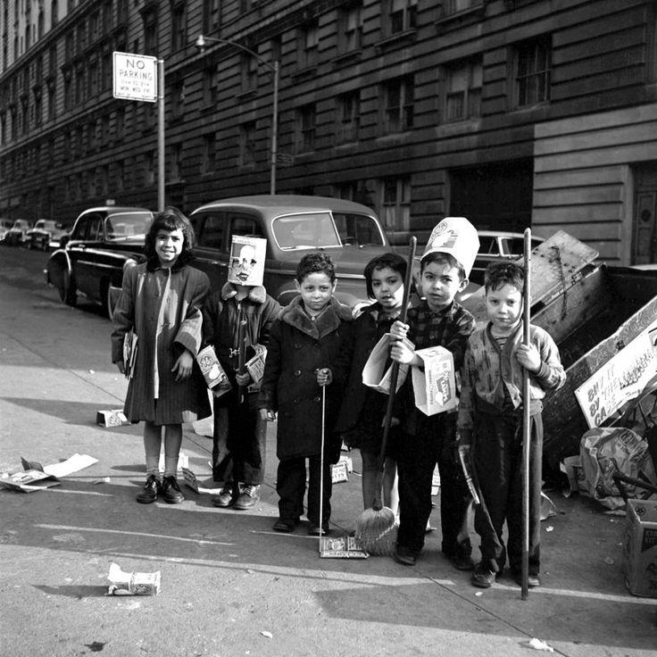 NYC. Vintage street superheroes...// Vivian Maier, March, 1954.