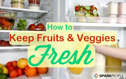Stop wasting money on spoiled produce! Here's how to keep #fruits and #veggies fresh for as long as possible. | via @SparkPeople #fitfood #healthyeating