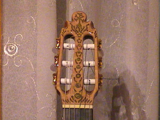 """Kertsopoulos Flamenco-Classical Head detail 2012"""