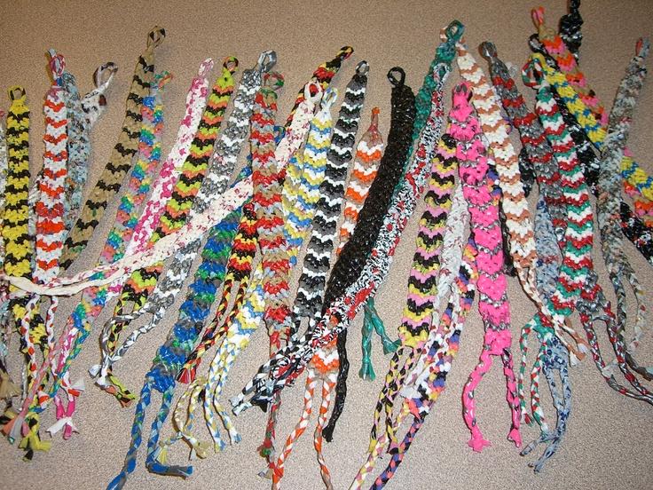 Recycled Plarn Friendship Bracelet Crafts Plastic Fun