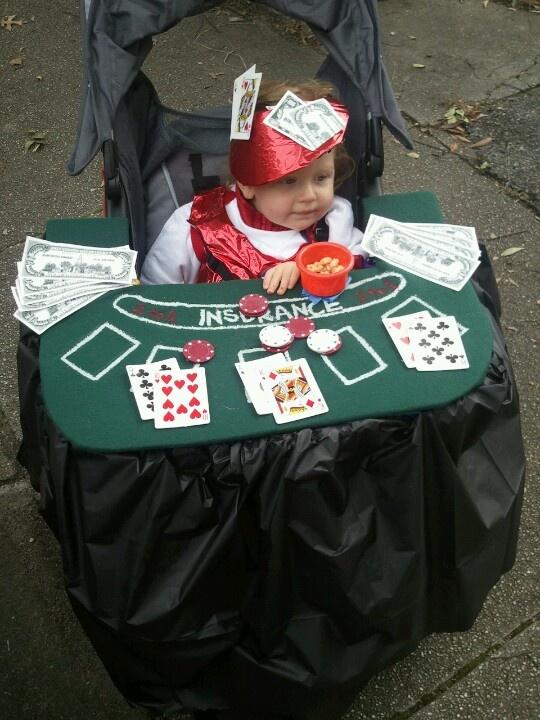 My daughter the blackjack dealer...Happy Halloween!
