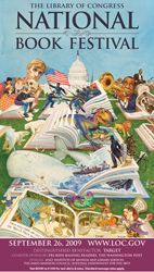 2009 Library of Congress National Book Festival Poster. Poster Artist: Charles Santore.