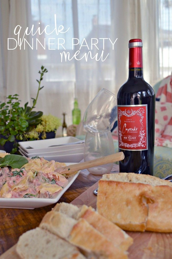 Quick Dinner Party Menu #SavorYourSummerRecipes #ad