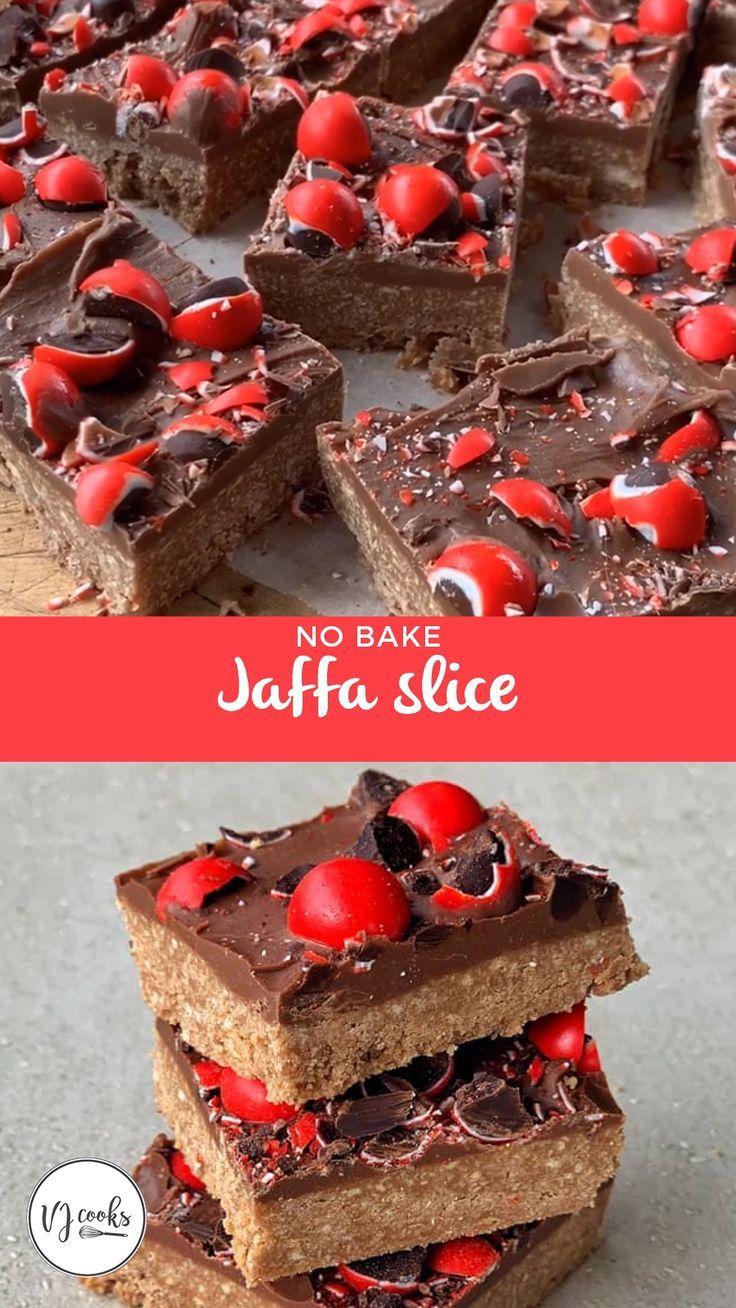 No Bake Jaffa Slice Recipe Baking Condensed Milk Recipes Milk Dessert