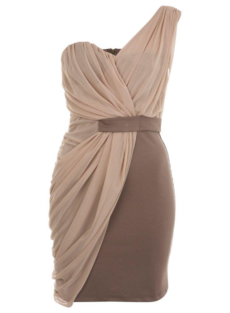 elegant one-shoulder dress