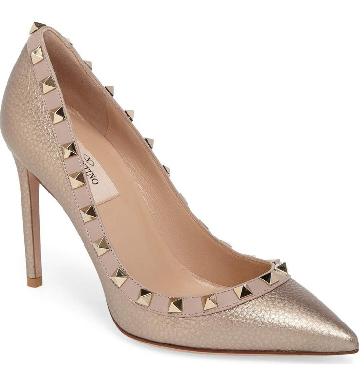ROCKSTUD POINTY TOE PUMP - Valentino Bridal Shoes: Vows in Rockstud Style https://www.loveandlavender.com/2018/01/valentino-bridal-shoes/