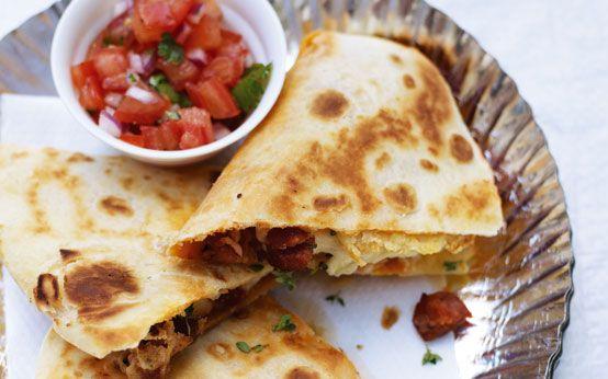Thomasina Miers' chorizo, potato and thyme quesadillas