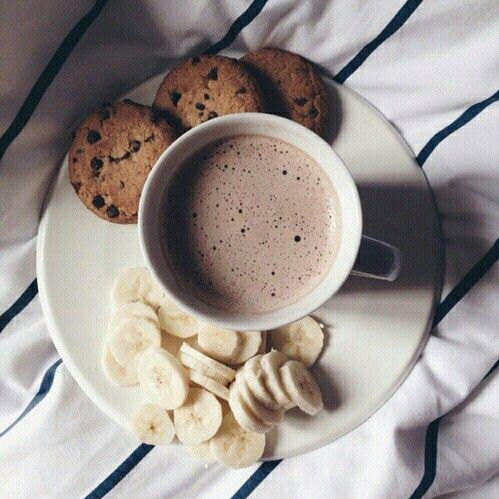 banana, coffee, cookies, delicous, food