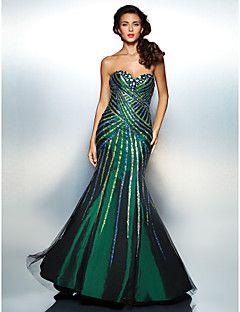 Trumpet/Mermaid Sweetheart Floor-length Taffeta Evening Dress