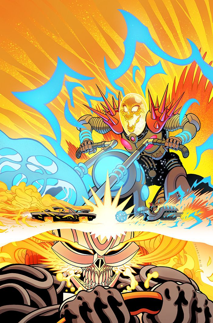 AVENGERS #7 FIRST APPEARANCE OF THE FIRST GHOST RIDER COSMIC GHOST RIDER VARIANT
