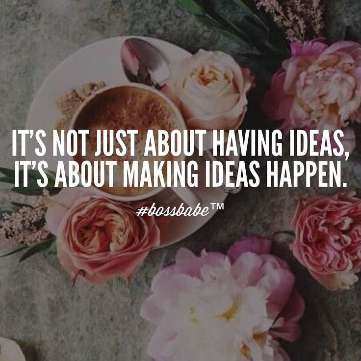 Don't let your ideas die on a piece of paper. Take them into the world. Take the FREE 3-day #BossBabe starter course by clicking the link in our profile!!