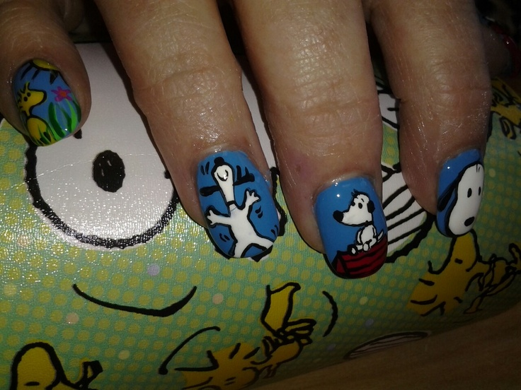 36 best snoopy nails images on pinterest nail designs fashion snoopy nails prinsesfo Gallery