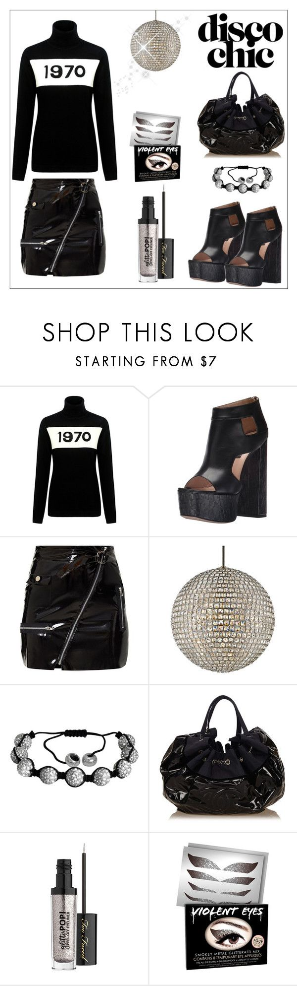 """Yes, this is an oxymoron."" by onenakedewe ❤ liked on Polyvore featuring Bella Freud, Ruthie Davis, Crystorama, Oxford Ivy, Chanel, Too Faced Cosmetics and Violent Lips"