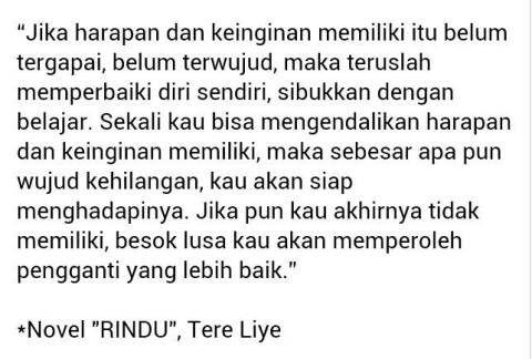 #Novel #Rindu #TereLiye