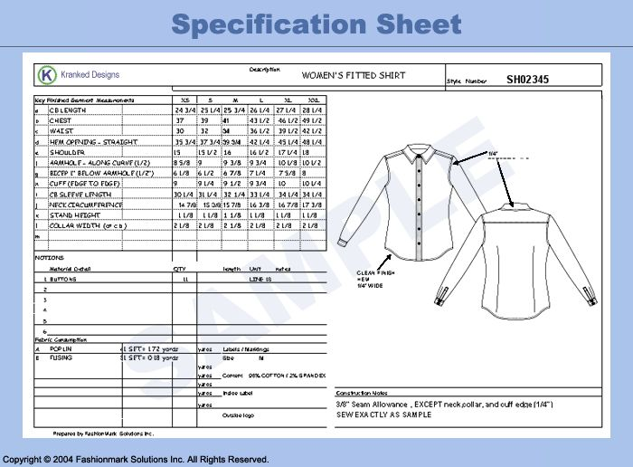 8 best images about Apparel Spec sheets – Spec Sheet Template