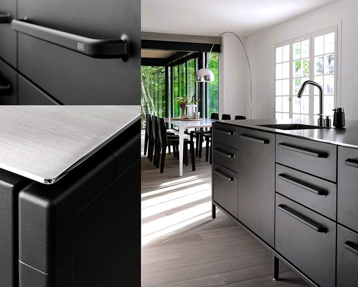 black-kitchen-details-countertop-vipp  #LimitlessDesign and #Contest