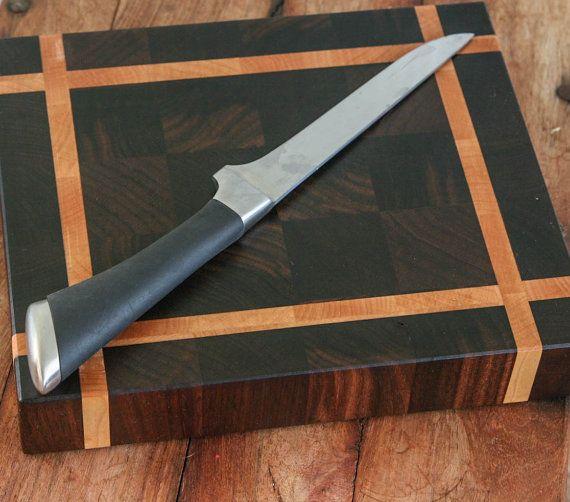 End Grain Cutting Board chopping block in Maple by SidetrackedinSD