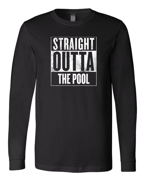 Straight Outta The Pool- Long Sleeved Black   SwimWithIssues