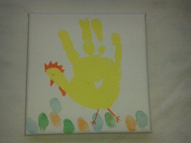Ein kleiner Ostergruß. Hand- und Fingerabdrücke.
